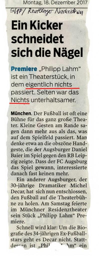 aus Reutlinger Nachrichten 18.12. 2017