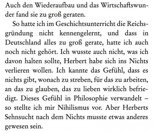 aus OLGA von Bernhard Schlink, Diogenes Zürich 2018, Seite 135