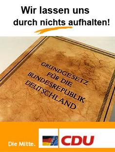Das ist kein CDU-Plakat.