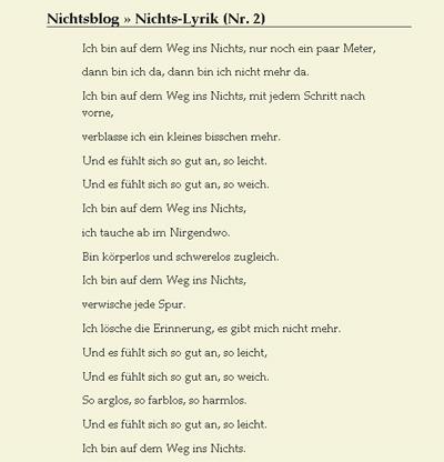 Nichts-Lyrik, noch lesbarer