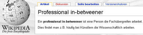 Wikipedia - Professional in-betweener