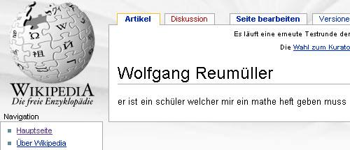 Wikipedia - Wolfgang Reumueller